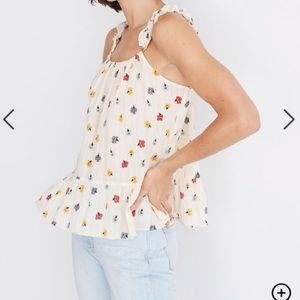 Madewell Floral Ruffled Top
